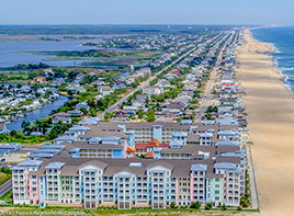 Virginia Beach Sandbridge aerial view