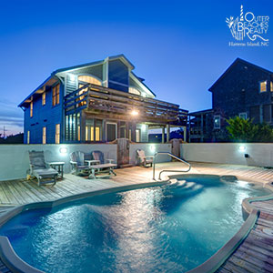 Hatteras Beach House With Private Swimming Pool