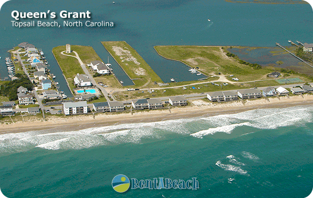 Aerial View Of Queen S Grant Community Topsail Beach Nc
