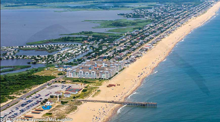 Sandbridge Beach aerial view